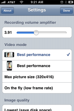 iPhone Video Recorder