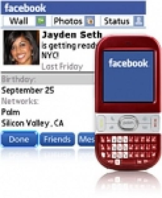 Facebook-klient for Palm Treo